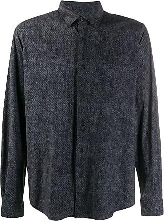 Canali Camisa ampla - BLACK