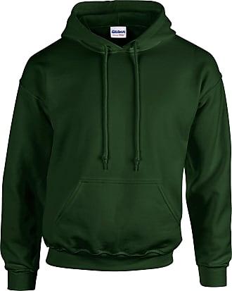 Undercover Gildan Hooded Sweatshirt Heavy Blend Plain Hoodie Pullover Hoody Forest Green 2XL