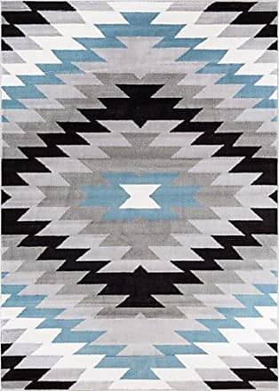 Well Woven AS-07-4 Navajo Modern Abstract Geometric Grey Distressed Area Rug 33 x 5