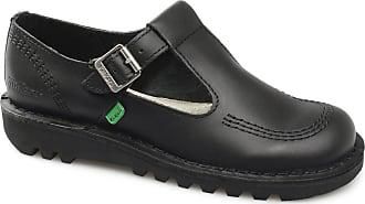 Kickers KICK LO AZTEC W CORE Ladies Leather Flat Shoes Black 38