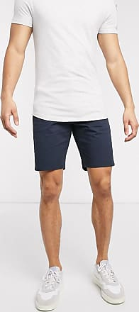 Farah Hawk - Marineblaue Chino-Shorts-Navy