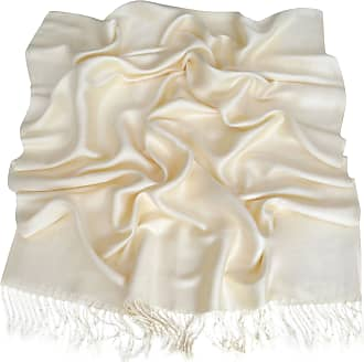 CJ Apparel Cream Solid Colour Design Shawl Scarf Wrap Stole Throw Pashmina CJ Apparel *NEW*(Size: One Size)