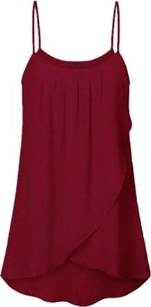 FNKDOR Womens Fashion Plus Size Casual Solid Sleeveless Chiffon Flowy Tank Tops Camis
