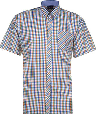Espionage Blue/Peach Check SH295 2XL to 6XL