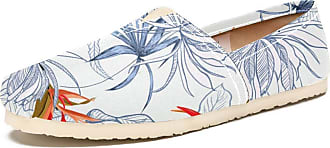 Tizorax Flowers and Leaves Mens Slip on Loafers Shoes Casual Canvas Flat Boat Shoe