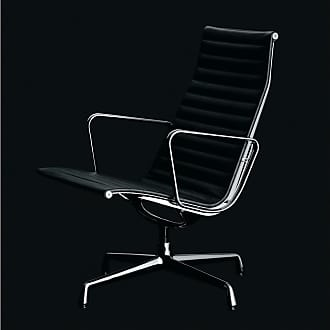 Vitra EA116 Swivel Lounge Chair Premium Leather