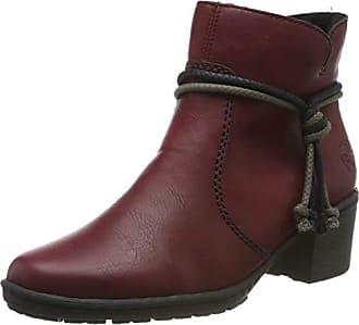 Rieker señora botas rojo