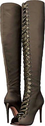 5e4fea35ba4 Aldo Womens Cherisse-44 Satin Peep Toe Over Knee Fashion Boots