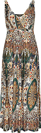 Yours Clothing Clothing Womens Tropical Print Maxi Dress Size 24 Brown