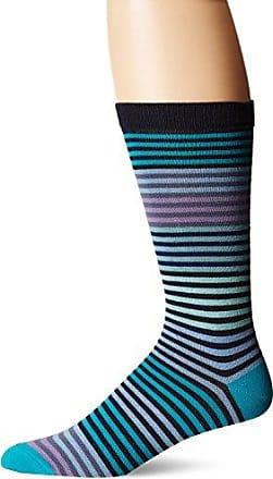 Ozone Mens Stripy Sock, Navy, 10-13