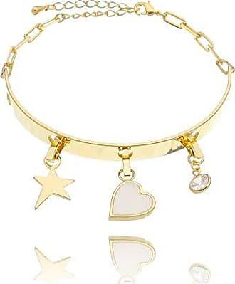 Lua Mia Semijoias Bracelete Espelhado Réplica Pingentes Removíveis - Semijoia Folheada a Ouro Lua Mia Joias