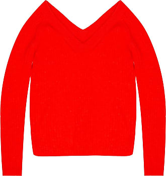 Helmut Lang Ribbed Sweater Womens Red