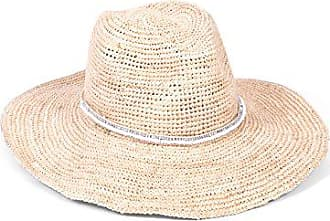 ále by Alessandra Womens Cody Crochet Raffia Sunhat Packable, Adjustable & UPF Rated, Natural/White, One Size