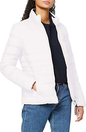 Tommy Jeans Womens TJW Modern Down Jacket, White (White Ya2), 4 (Size:S)