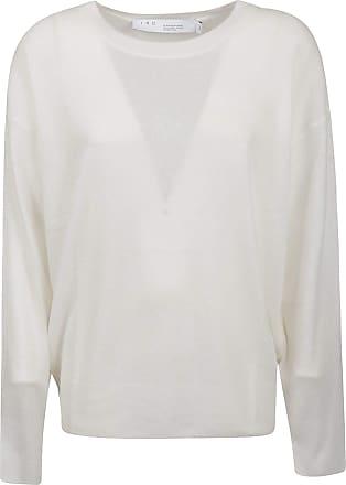 Iro Fashion Woman WP12KEYRAWHI02 White Silk Sweater | Spring Summer 20