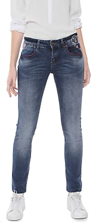 Desigual Calça Jeans Desigual Skinny Maïte Azul