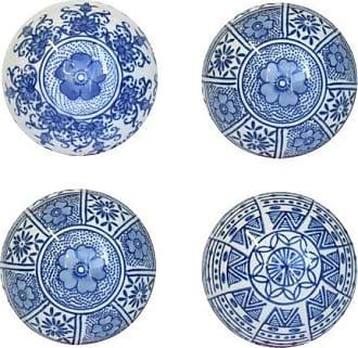 Vestindo a Mesa Bolas Decorativas Blue e White