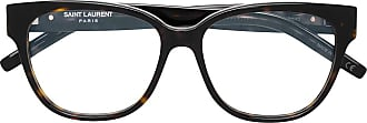 Saint Laurent Eyewear Armação de óculos quadrada - Marrom