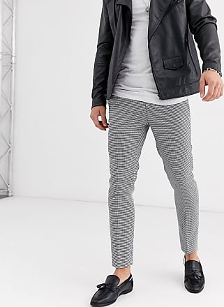 Burton Menswear skinny smart trousers in black & white puppytooth check