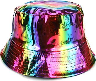 Loud Elephant Firefly Shiny Metallic Bucket Hat - Unicorn Rainbow