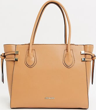 Steve Madden tote shopper bag with removeable pouch-Tan