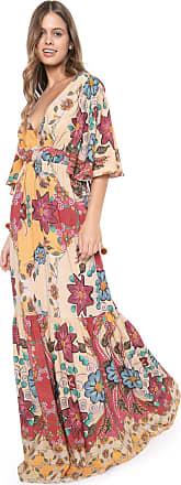 Dress To Vestido Dress to Longo Tupay Bege/Vermelho