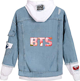 EmilyLe Ladies Love Yourself Hoodie Kpop BTS Map of The Soul Persona Jeans Outerwear Jin Suga J-Hope RM Jimin V Jung Kook (XS, 1 White Flower)