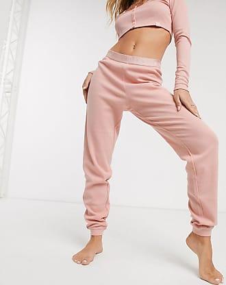 Savage x Fenty Savage x Fenty Waffle Sleep crop pants in rose-Pink