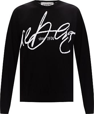 Iceberg Logo Sweater Mens Black