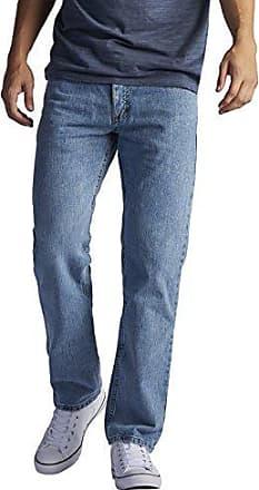 Lee Mens Regular Fit Straight Leg Jean, Worn Light, 42W x 36L
