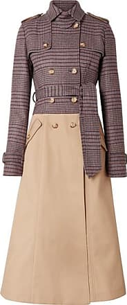 Gabriela Hearst Armonia Checked Wool-blend And Cotton-gabardine Trench Coat - Beige