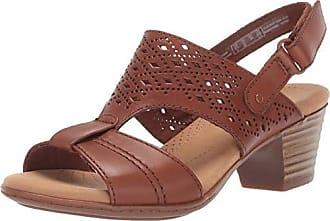 Clarks Womens Valarie Mindi Heeled Sandal tan Leather 095 M US