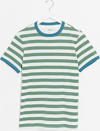 Farah Belgrove - Gestreiftes Ringer-T-Shirt in Grün