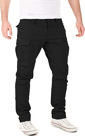 Yazubi Mens Casual Cargo Trousers Chino Jayden Chino Men Casual Cargo Pants Slim Fit Jogger Skinny, Black (4008), W28/L32