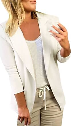 FNKDOR Women Coat Daily Elegant Blazer Tops Long Sleeve Jacket Solid Color Ladies Office Wear Coat