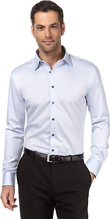 Vincenzo Boretti Mens Shirt Regular-fit Kent Collar Classic Design Plain Solid Colour 100% Cotton Non-Iron Long-Sleeve Designer Shirts for Men Formal Office Wedding Id