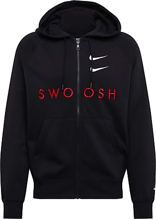 Nike Sweatjacke Swoosh rot / schwarz
