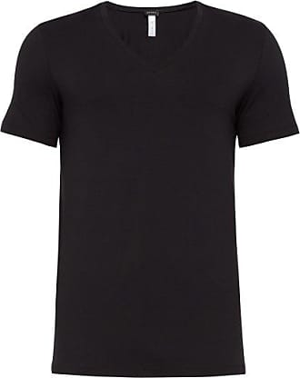 HANRO mens short sleeve v-neck shirt micro touch