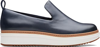 78d482afb74 Clarks Teadale Genna - Navy Leather - Womens 10