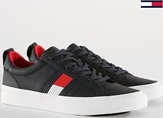 Flag Midnight Leather FM0FM01712 Baskets Detail Tommy Hilfiger Tommy Jeans IqFzxHp8