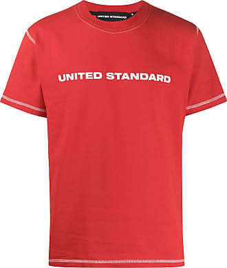 United Standard crew neck printed logo T-shirt - Red