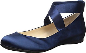 Jessica Simpson Womens Mandayss Ballet Flat,navy satin,5.5 Medium US