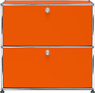 USM Sideboard mit 2 Klapptüren B77.3cm - reinorange RAL 2004/77.3 x 74 x 37.3 cm
