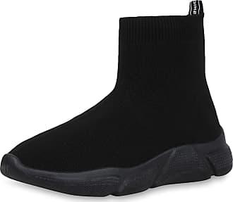 Scarpe Vita Women Sports Shoes Slip Ons Prints Knitting 192373 Black Black UK 3.5 EU 36