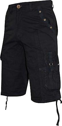 True Face Mens Cargo Shorts Black 30