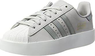 buy popular 59f9b 73b2b adidas Damen Superstar Bold Sneaker, Elfenbein (Lgh Solid Greymid Grey S14