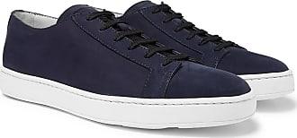 Santoni Nubuck Sneakers - Navy