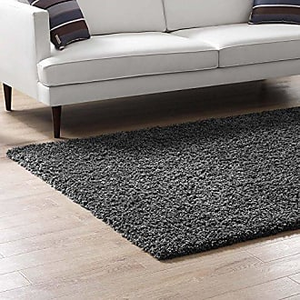 ModWay Modway Enyssa 8x10 Solid High Pile Shag Area Rug With In Silver Gray