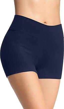 iLoveSIA Womens Knickers Yoga Gym Pants Stretch Boy Shorts Deep Blue S