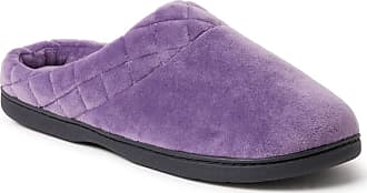 Dearfoams Womens Darcy Microfiber Velour Clog Quilted Cuff. Womens House Slipper Textile Slipper, Memory Foam Insole. Breathable and Flexible, Excellent Comfort
